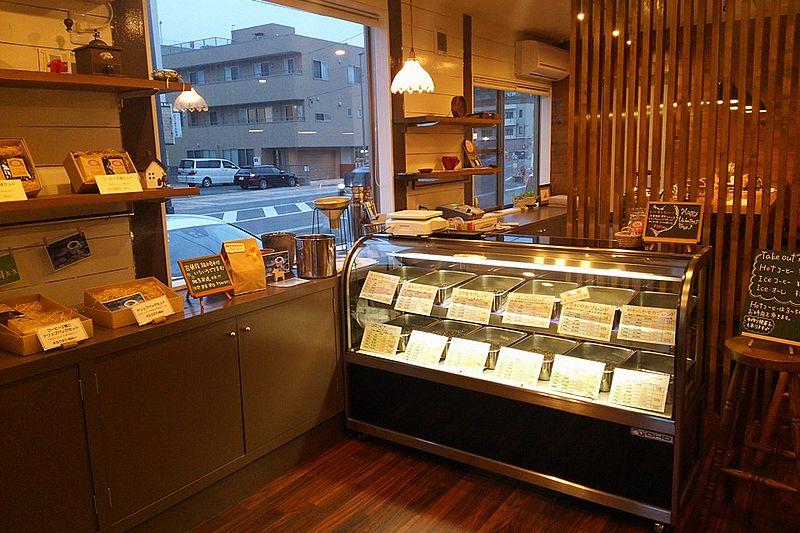 「スペシャルティコーヒー豆専門店ほしの」店内